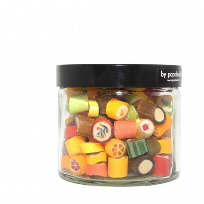 fruit candy natural colours in a 200gr jar