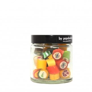 fruit candy natural colours in a 70gr jar