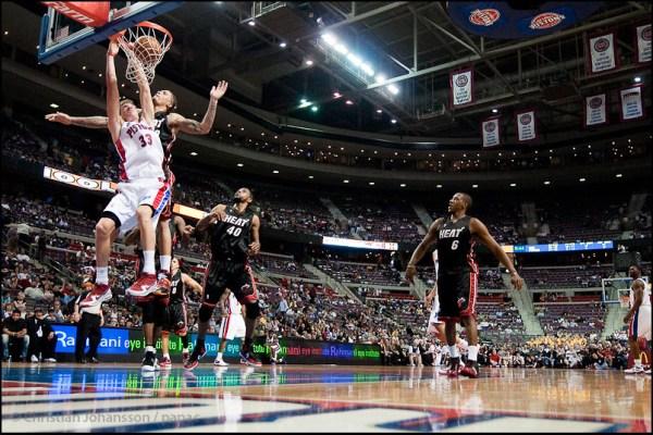 NBA, Detroit Pistons-Miami Heat.