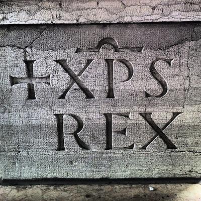 шрифт: JESUS CHRISTUS REX