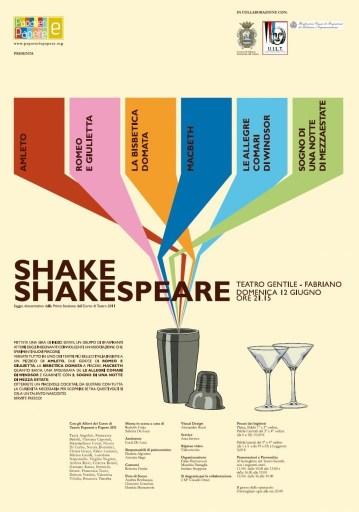 Manifesto Teatrale Shake Shakespeare