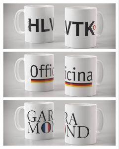 Tazas con tipografías