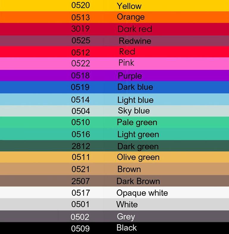 seleccion de colores para papel sulfurizado