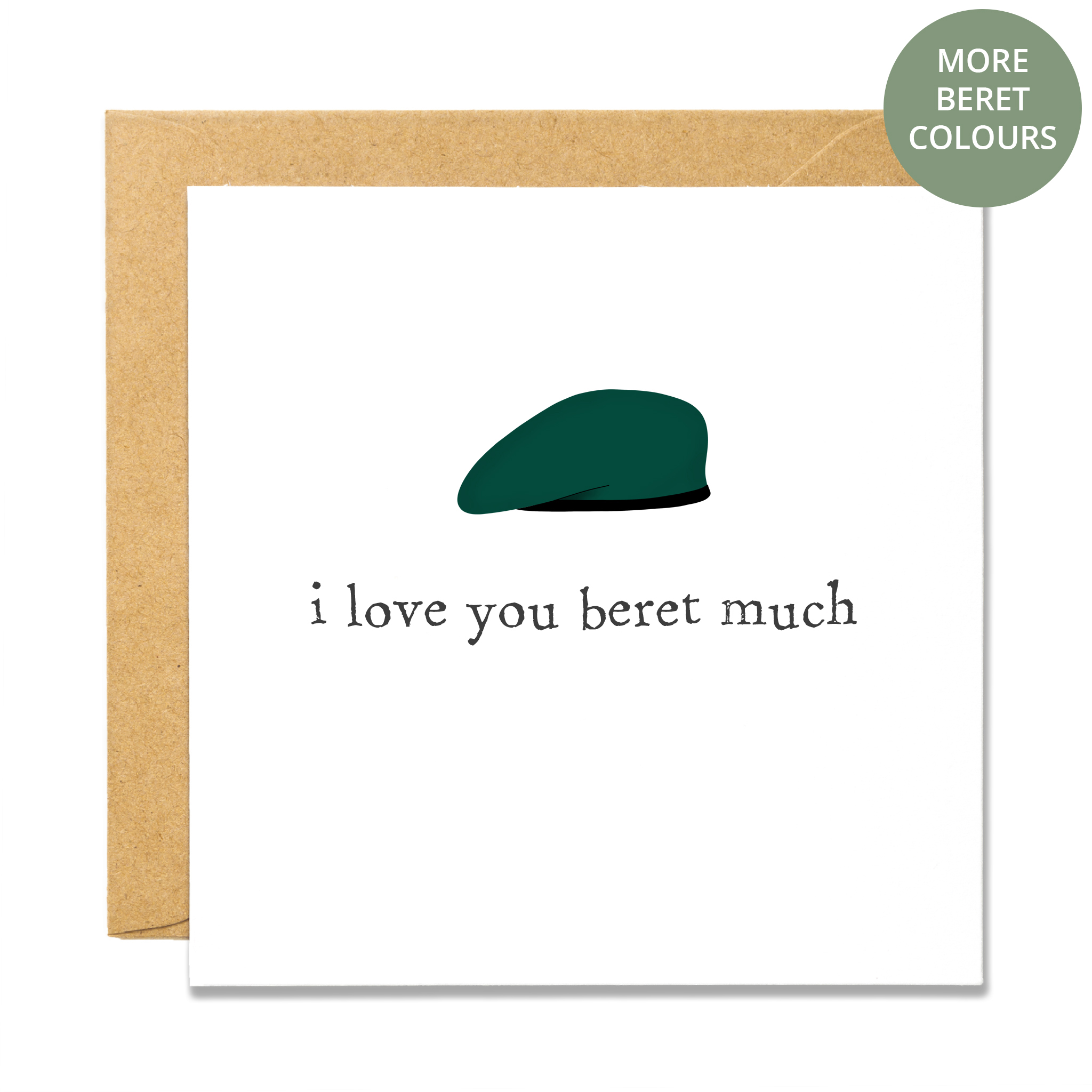 Beret Much - Green W STICKER