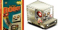 Papercraft imprimible y armable de un camión de juguete de Super Robot. Manualidades a Raudales.
