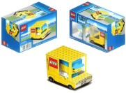 Paper model recortable de un camión de Lego.  Manualidades a Raudales.
