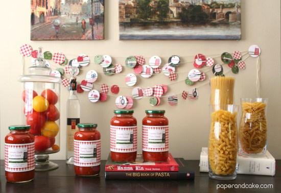 Mangia Italian printable party