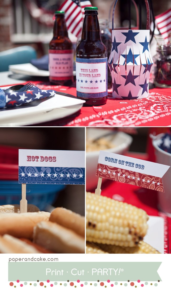 Red, White & Blue 4th of July Printable Block Party