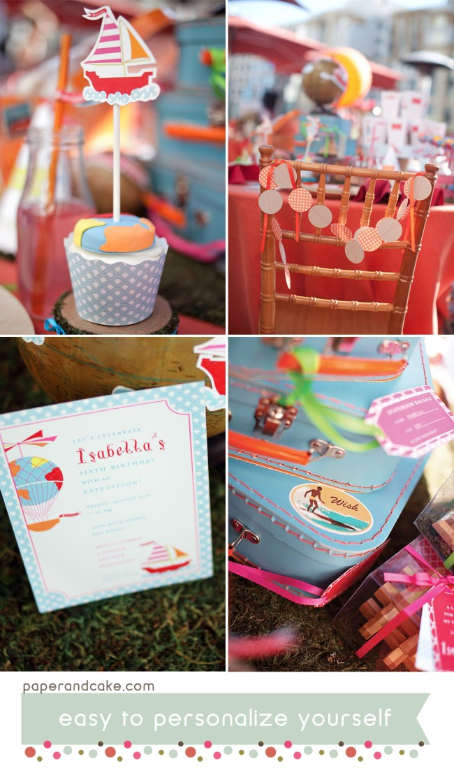 imagine a journey printable party