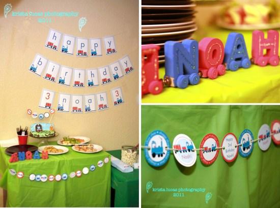 Printable Train Birthday Party Decorations