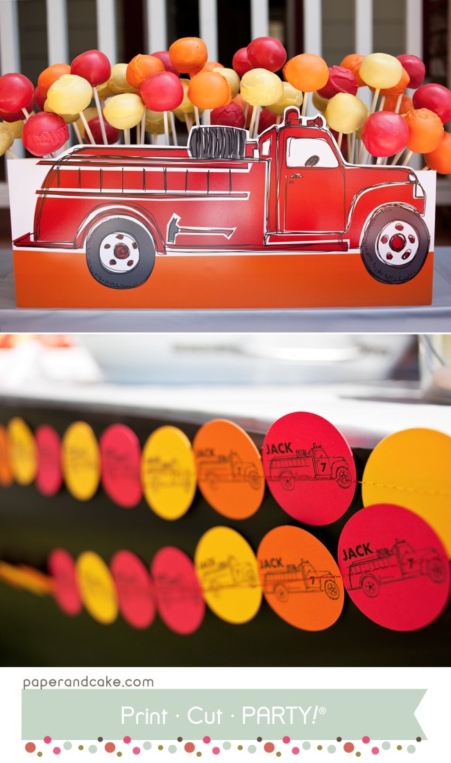fire truck party1Fire Truck printable party