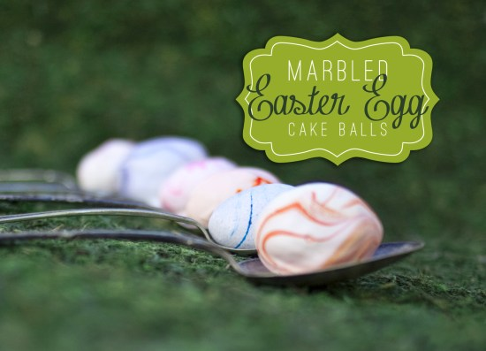 Marbled Cake Ball Easter eggs How-to