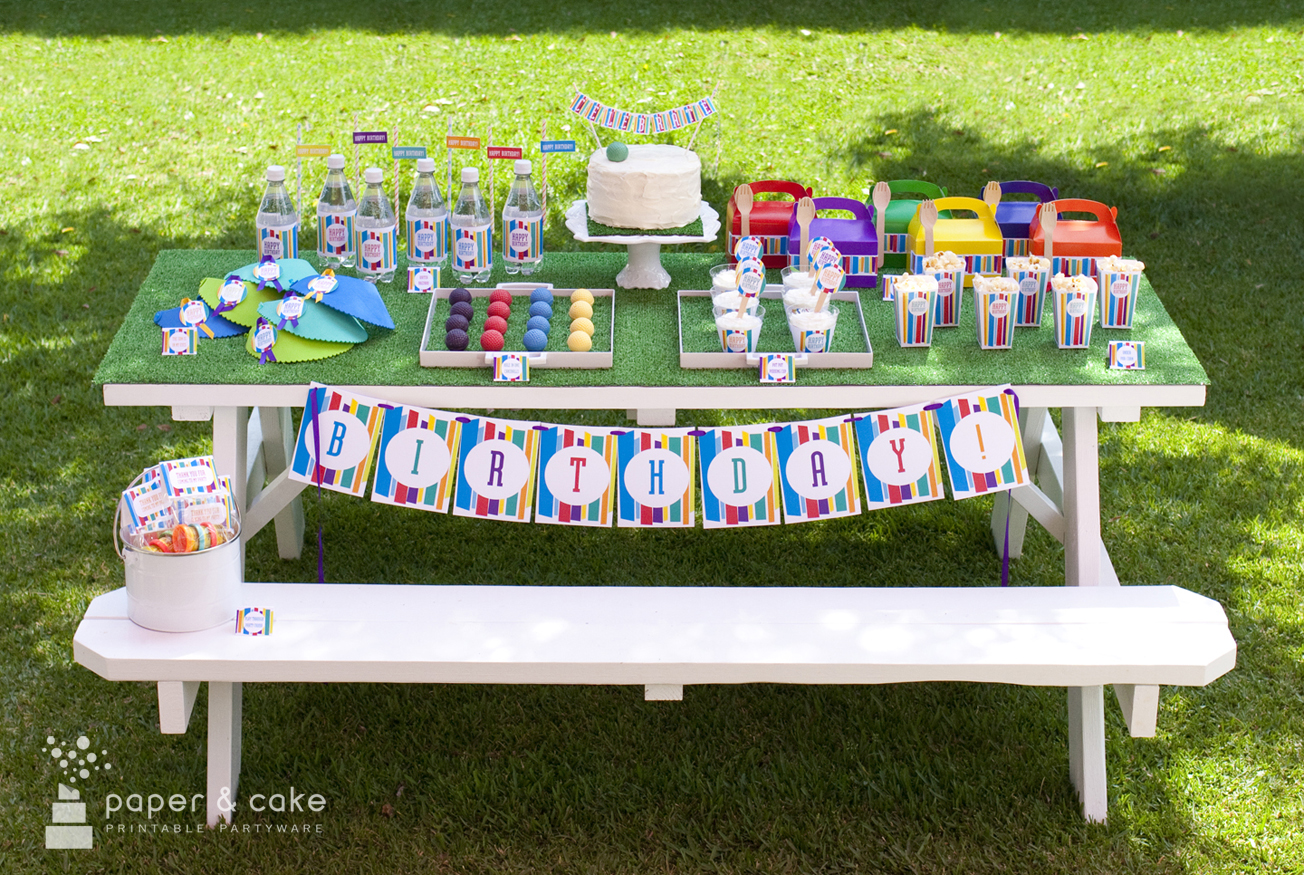 Mod Stripe Mini Golf Party Paper And Cake Paper And Cake
