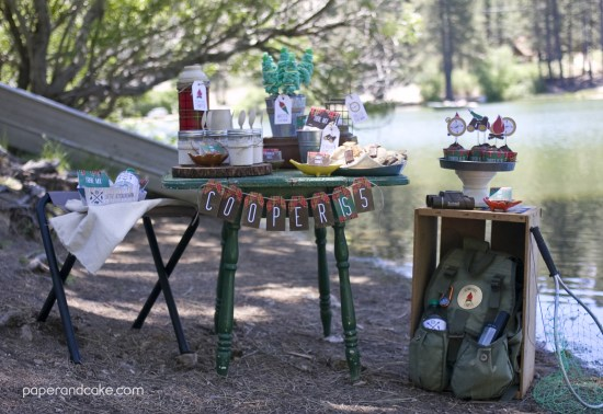 Outdoorsman Printable Birthday Party Invitation and Decorations