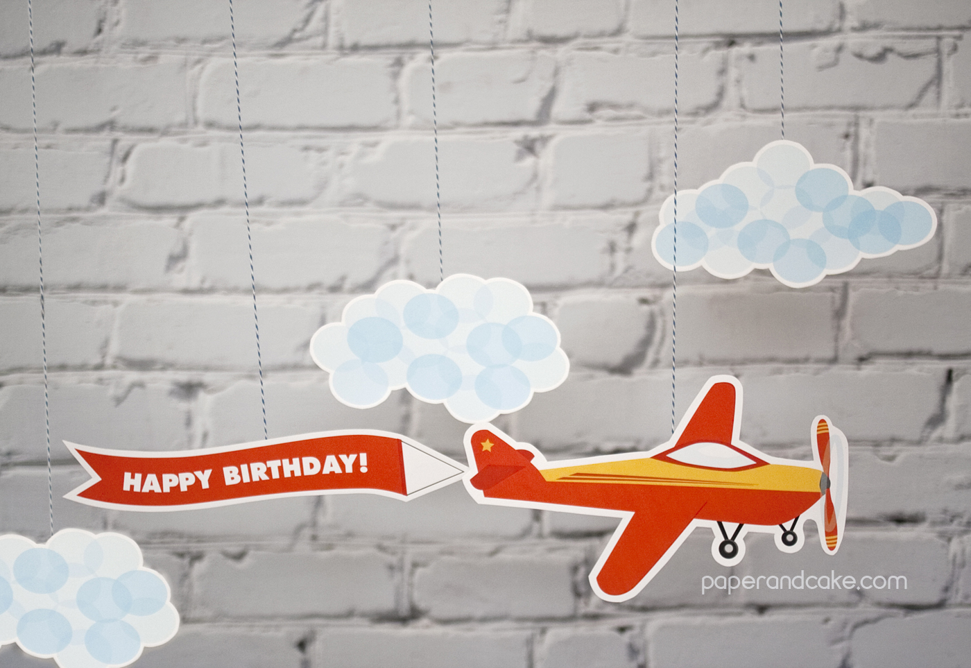 New Party Release Airplane Birthday Printable Party