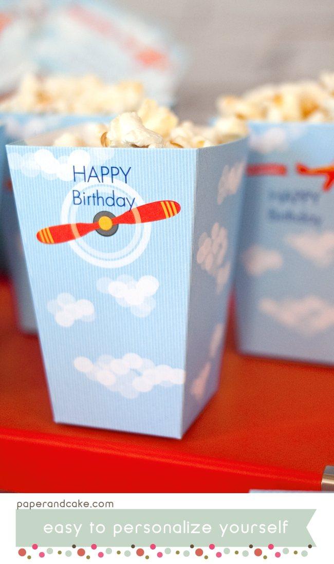 airplane printable birthday party