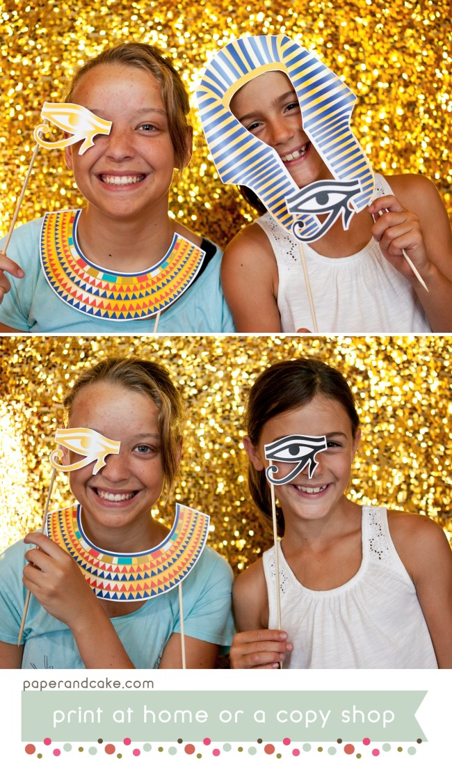 egyptian photo booth props
