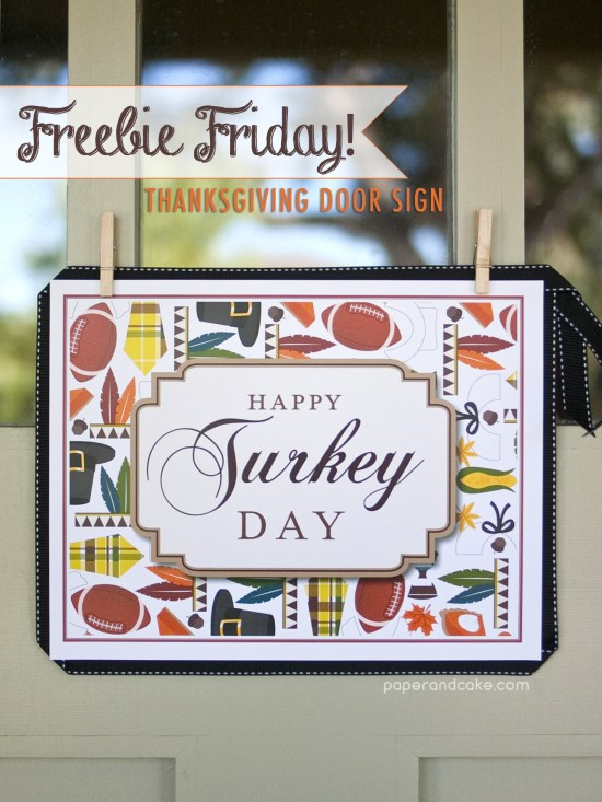 Thanksgiving Welcome Sign free printable download