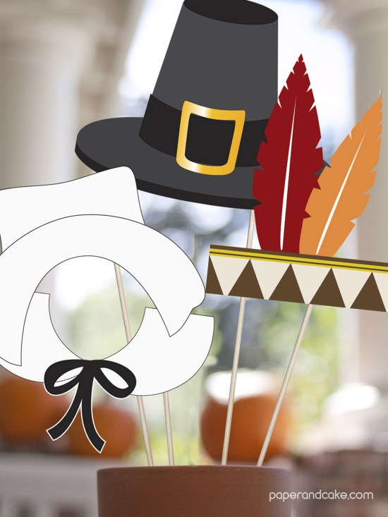 Paper & Cake Printable Decorations vs. Store Bought- getting your money's worth Photo booth props hat-feathers