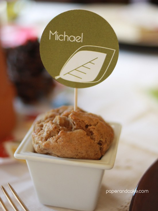 Paper & Cake Printable Decorations vs. Store Bought- getting your money's worth placecard