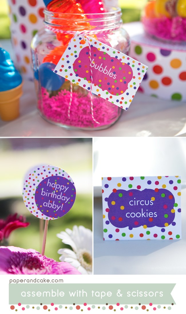 Polka Dots Printable Birthday Party