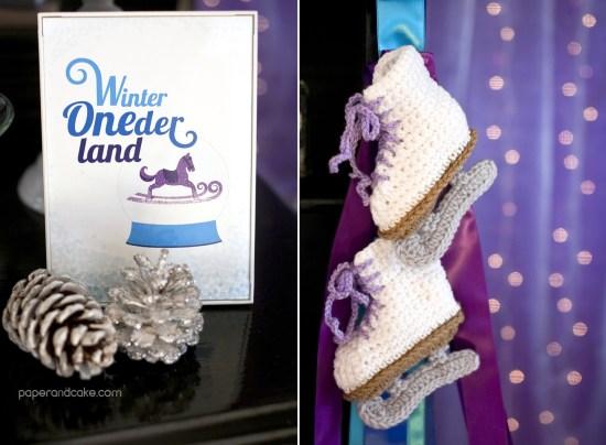 Winter ONEderland Printable Baby's First Birthday
