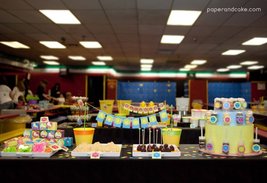 Roller Skate Party tablescape
