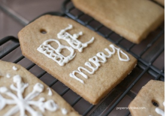 paper and cake holiday easy and moder gift tag cookie