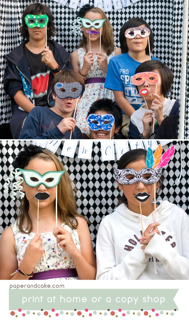 masquerade printable photo booth props
