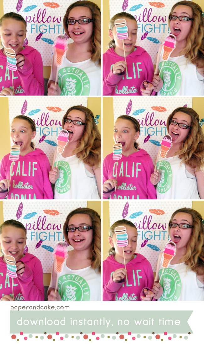 Sweet Shoppe Printable Photo Booth Props