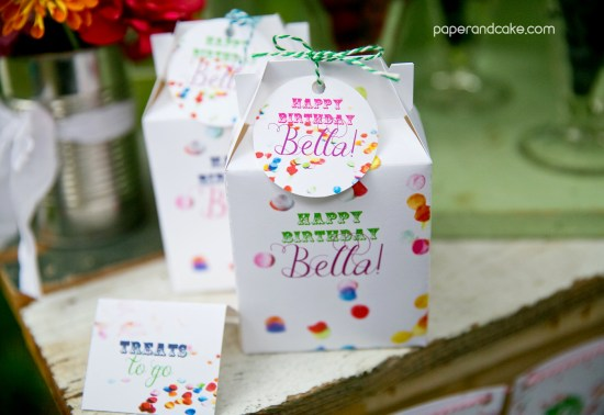 confetti birthday party decorations