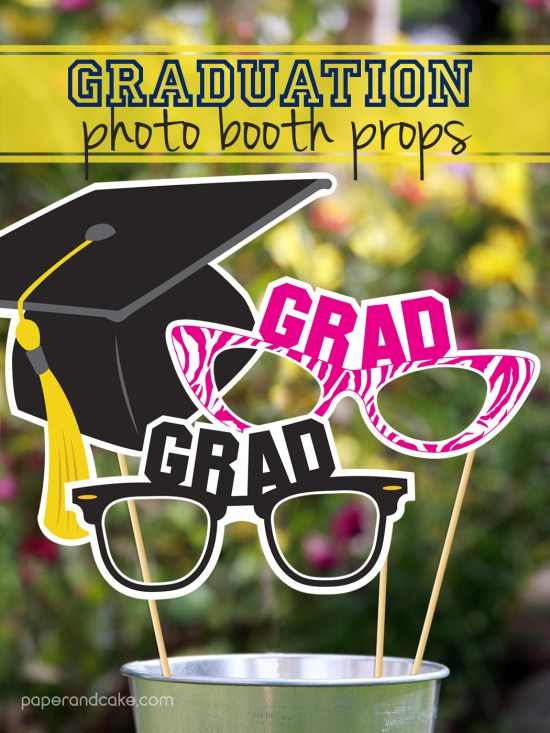 printable graduation photo booth props