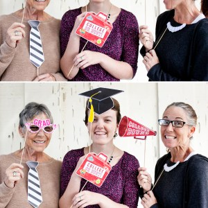 graduation printable photo booth props
