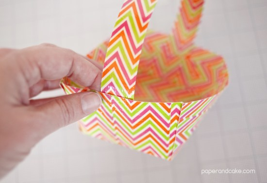 Duct tape easter basket step by step instructions