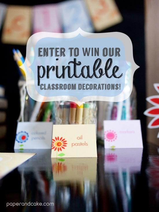 printable classroom decorations teacher supplies
