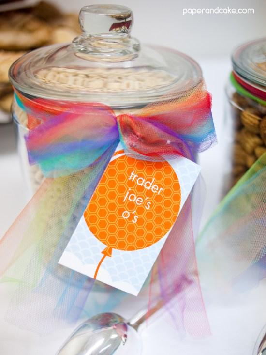 Balloon Rainbow Printable Birthday Party
