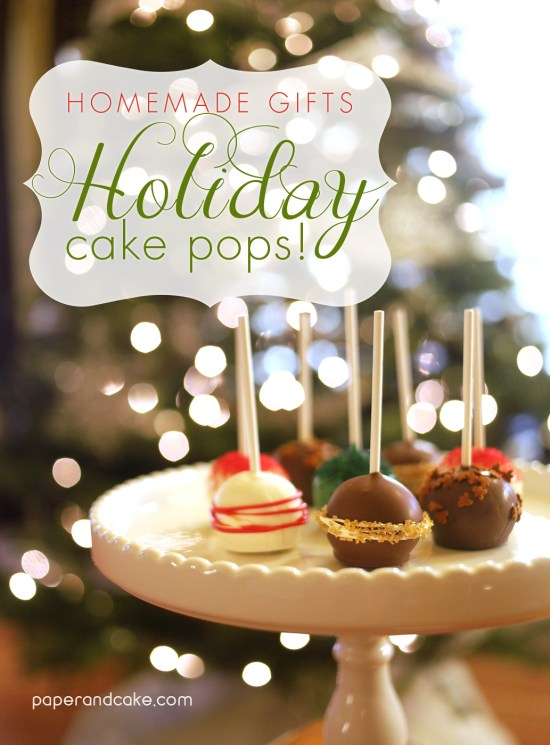holiday cake pops gifts for your neighbors