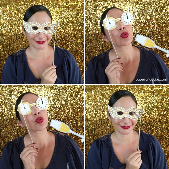 New Years Eve photo booth props