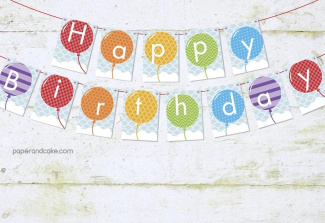 balloon rainbow pennant banner