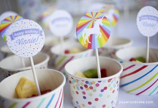 rainbows and unicorns printable party