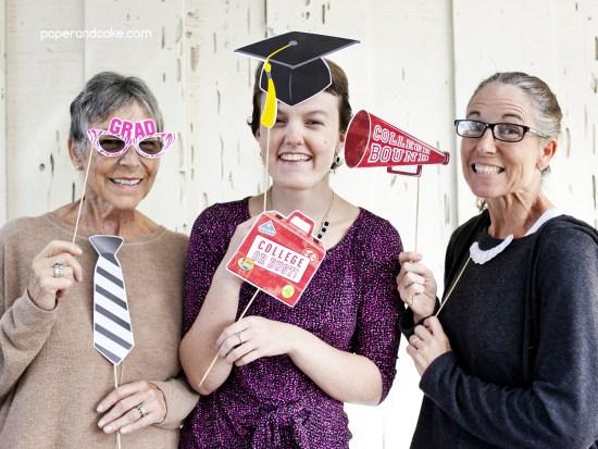 graduation photo booth props printable pdf