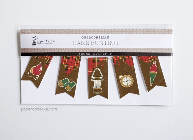 Outdoorsman Mini-Bunting Cake Topper