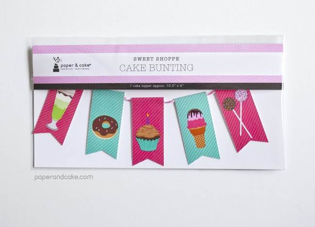 Sweet Shoppe Mini-Bunting Cake Topper