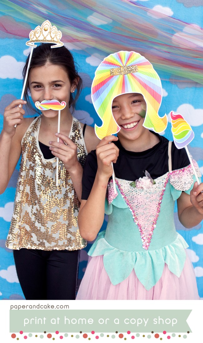 rainbow unicorn photo booth props