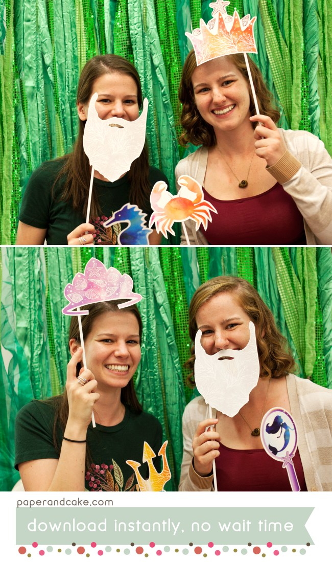 Under the Sea printable photo booth props