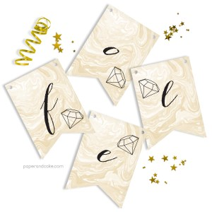 For Like Ever Bridal Pennant Banner
