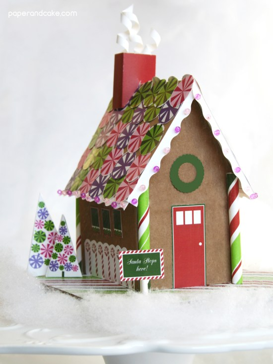 printable paper gingerbread house