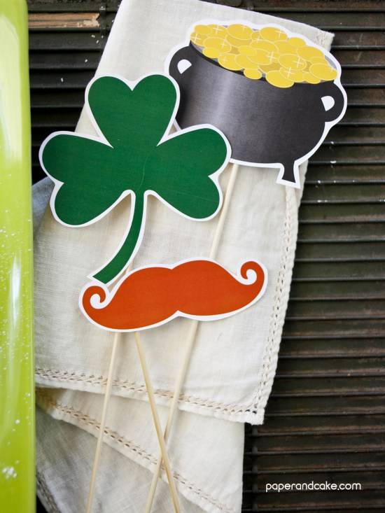 St. Patrick's Photo Booth props