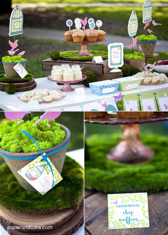 Garden Party printables for Easter