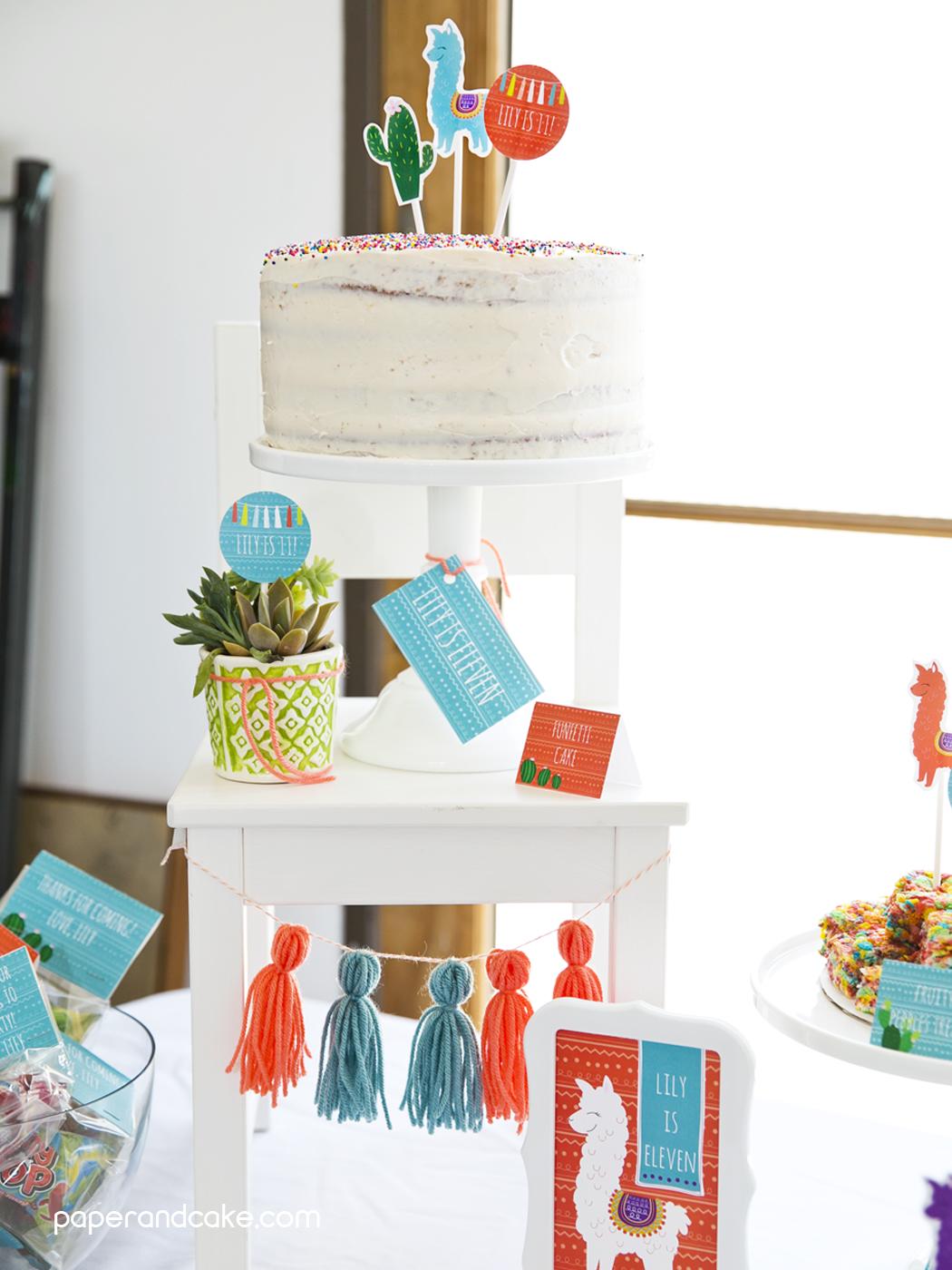 Alpaca Printable Birthday Party